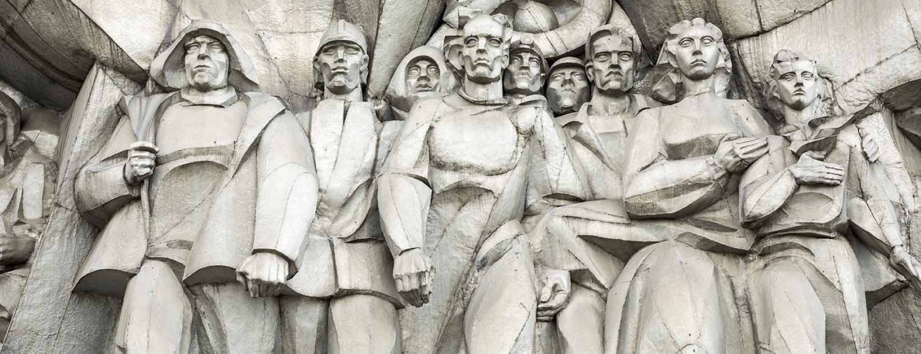 Soviet-Era Bas-relief on the facade of a building in Minsk, Belarus